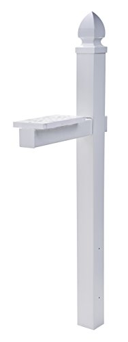 Gibraltar Mailboxes Whitley 4x4 Rust-Proof Plastic White
