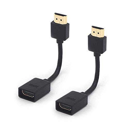 VCE 2-Pack HDMI Male to Female Swivel