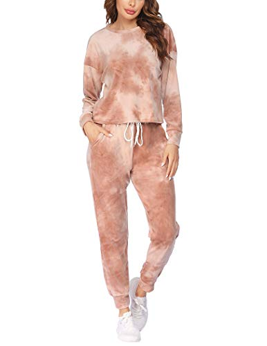 Hotouch Women Velour Tracksuit Tie Dye
