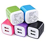 USB Wall Charger, Charging Block, 5Pack...