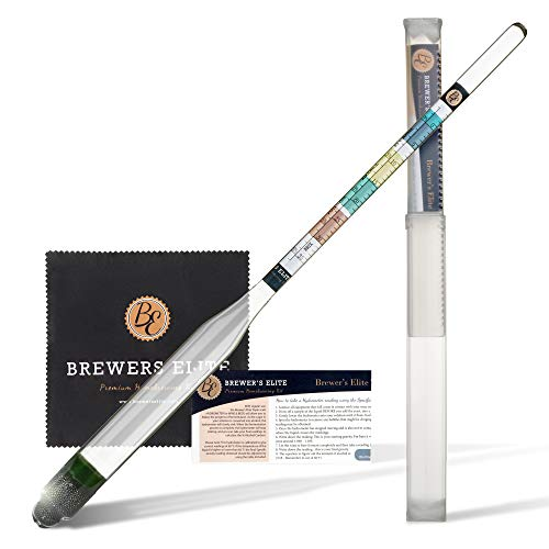 Brewer's Elite Hydrometer - for Home Brew Beer, Wine, Mead