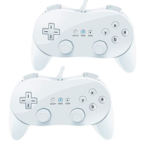 VOYEE Wii Classic Controller,2 Pack Wired Pro Controller