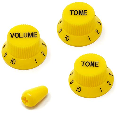 Vintage Forge Yellow Guitar Control Knobs