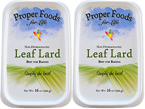 Proper Food's - 100% Pure Leaf Lard - Non-Hydrogenated - for Cooking