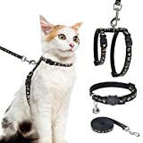 Cat Harness with Leash and Collar Set -...