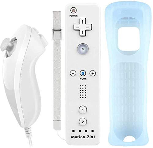 Lyyes Wii Controller with Motion Plus Wii Motion Remote with Nun chuck