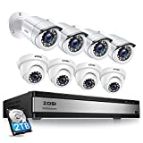 ZOSI Full 1080p 16 Channel Home Security...