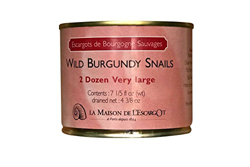 Premium Escargot Wild Burgundy Snails