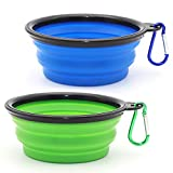 Collapsible Dog Bowl, 2 Pack Small...