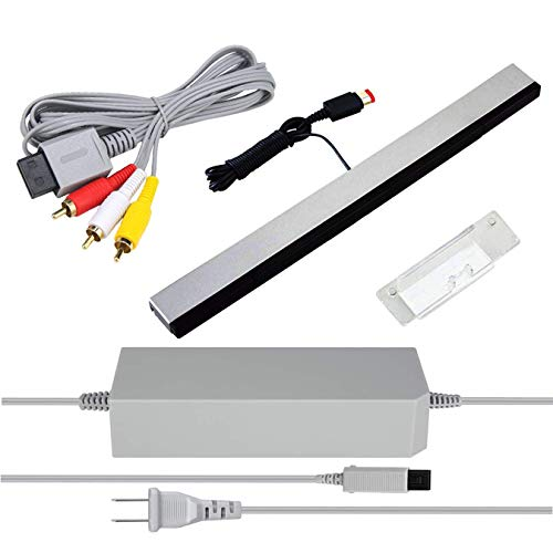 3 in 1 Wii AC Power Adapter + Composite Audio Video Cable