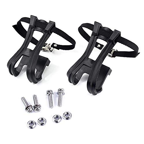 1 Pair Toe Clips with Strap Belts