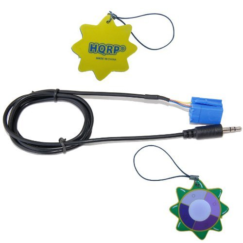 HQRP Audio Cable 8-pin ISO to 3.5MM for Satellite Radio Kit