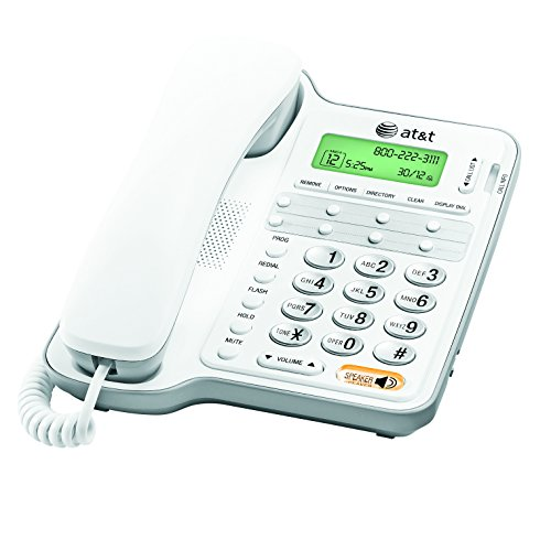 AT&T CL2909 Corded Phone with Speakerphone and Caller ID/Call Waiting