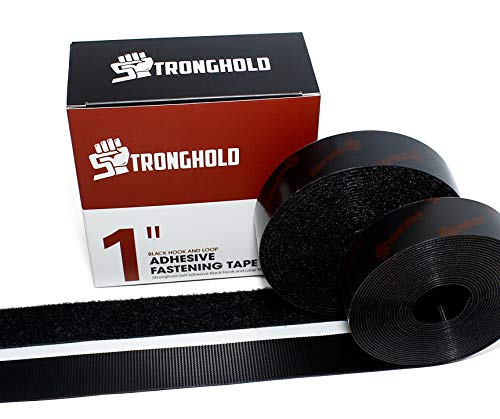 STRONGHOLD 1 Inch x 5 Yard Set - Adhesive Black Hook