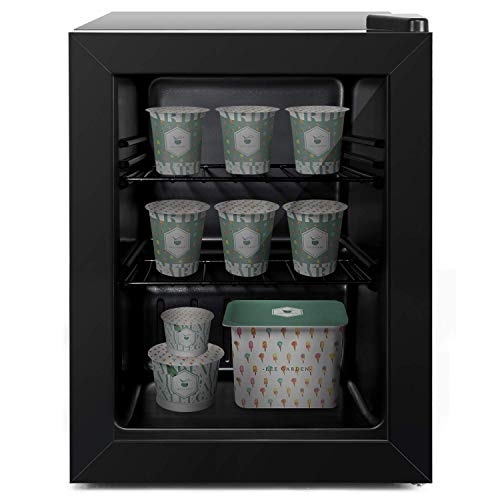 Coollife Upright Freezer -Have Removable Shelves and Three-layers Glass Door