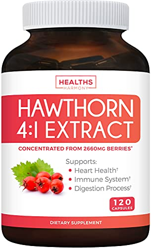 Hawthorn Berry 4:1 Extract (120 Capsules) Supports Healthy Blood Pressure