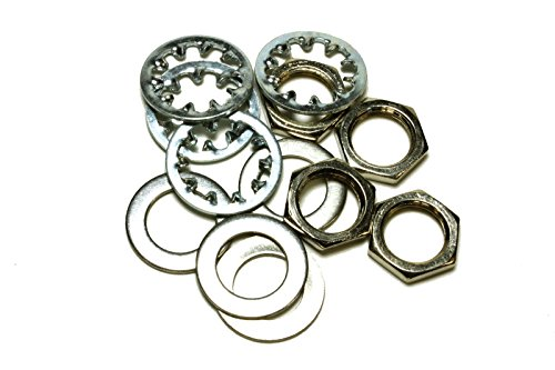 set of 4 Guitar nuts, washers & lock washers