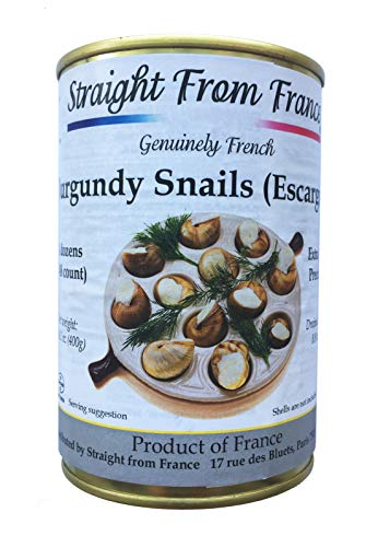 France French Helix Po matia Wild Burgundy Canned Escargots