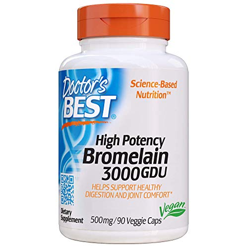 Doctor's Best 3000 GDU Bromelain Proteolytic Digestive Enzymes Supplements