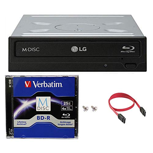 LG WH14NS40 16X Blu-ray BDXL DVD CD Internal Burner Drive Bundle