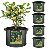 T4U Fabric Plant Grow Bags with Handles...