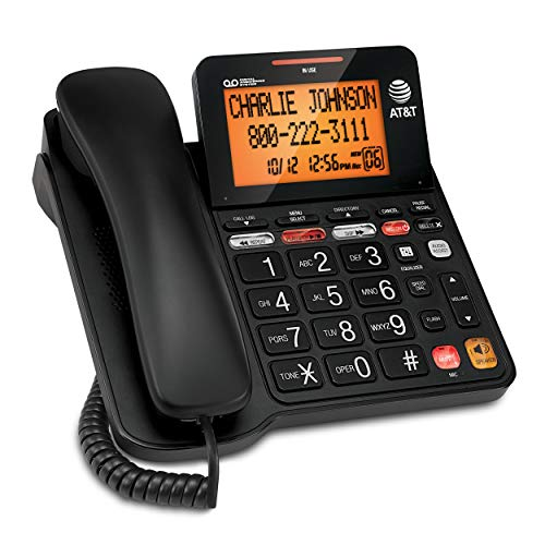 AT&T CD4930 Corded Phone with Digital Answering System and Caller ID