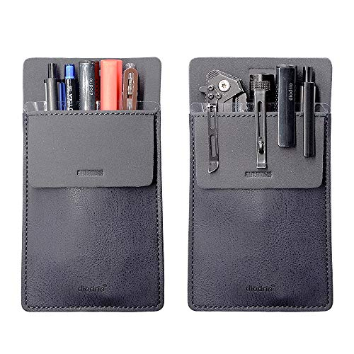 Pocket Protector, Leather Pen Pouch Holder Organizer