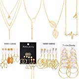 Necklace and Earring Jewelry Set with 24...