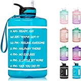 1 Gallon Water Bottle with Time Marker &...