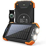 Solar Power Bank, Qi Portable Charger...