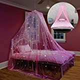 Bed Canopy with Glow in The Dark Stars...