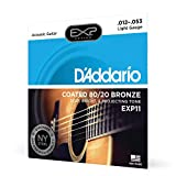 D'Addario EXP11 with NY Steel Acoustic...