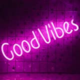 Good Vibes Neon Sign (19.5 x 5 inch),...