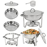 LEMY Full Size Deluxe Round Chafing Dish...
