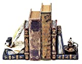 Bellaa 26324 Wizard Bookends Feather...