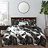 CLOTHKNOW Black Marble Comforter Sets...