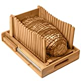 Kitchen Seven Bamboo Bread Slicer with...