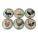 Set of 6 French Country Chicken Rooster...