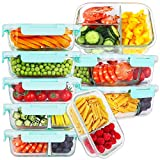 Bayco 9 Pack Glass Meal Prep Containers...