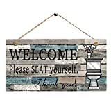 Wooden Tag, Funic Welcom Please SEAT...