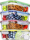 Prep Naturals Glass Meal Prep Containers...