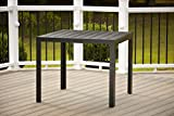 Cosco Outdoor Resin Slat, Square Dining...