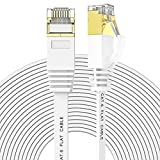 Cat 6 Flat Ethernet Cable 150 ft, White...