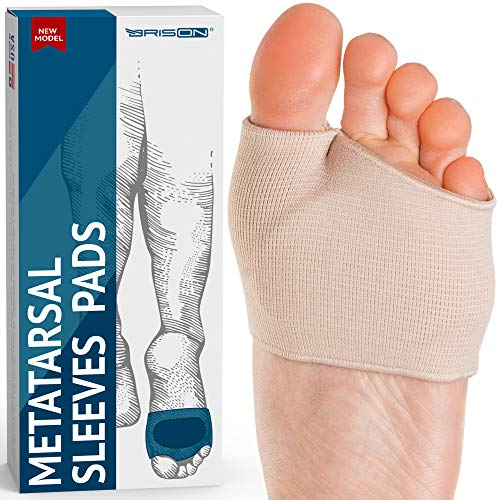 Fabric Metatarsal Pads - Ball of Foot Cushions Support Sleeves