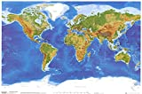 Planetary Visions Physical World Map...