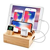 Bamboo Charging Station for Multi Device...