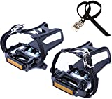 YBEKI Bike Pedals with Clips and Straps,...
