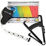 Body Fat Caliper and Measuring Tape for...