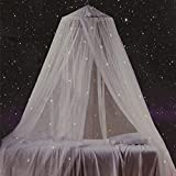 Bed Canopy with Fluorescent Stars Glow...