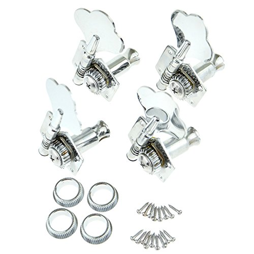 Bass Guitar Tuning Pegs Bass Vintage Opened Machine Heads